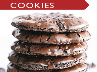 a gorgeous stack of delicious chocolate cookies