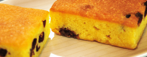 moist and delicious lemon and cranberry sponge cakes