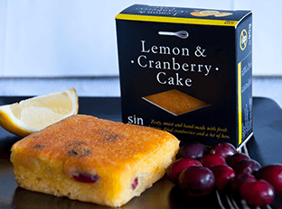 our delighful lemon & cranberry cake