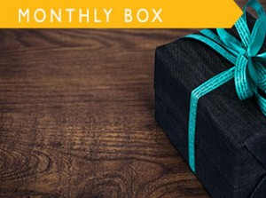 our monthly subscription box full of gluten free goodies
